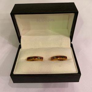 H. Stern 18K Gold Multistone Huggie Earrings for sale